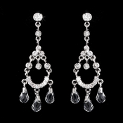 Elegant Chandelier Cubic Zirconia and Crystal Earring E-3033