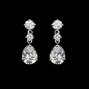 Elegant Cubic Zirconia Wedding or Special Occasion Earrings E 2845