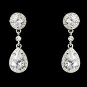 Cubic Zirconia Bridal Earrings E 25197