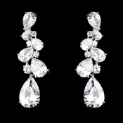Sparkling Antique Silver Clear & CZ Earring 5882