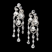 Silver Bridal Chandelier Earrings E 8321