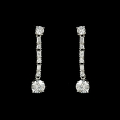 Silver Cubic Zirconia Dangle Earrings E 11324