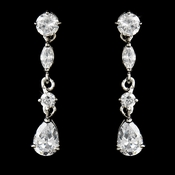 Crystal Cubic Zirconia Bridal Earrings E 2656