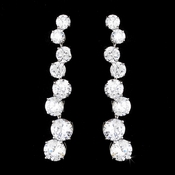Dazzling Silver Clear CZ Earrings 5107