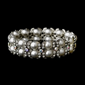 Silver Clear AB Stretch Bracelet 8481