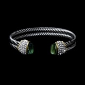 B-3262 Green Designer Inspired Bangle Bracelet