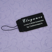 Elegant Black Jewelry Tag