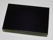 """Glossy Black Jewelry Box for Packaging Costume Jewelry Sets 8"""" x 5 1/2"""" x 1 1/4"""""""