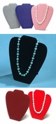 "Necklace Jewelry Display Black Velvet- 7 3/8"" x 8 1/2""H"