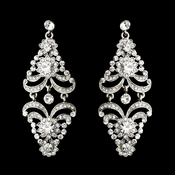 Silver Clear Earring Set 8466