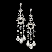 Silver Swarovski Bridal Chandelier Earrings E 8318