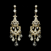 Gold Bridal Chandelier Earrings E 8319