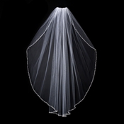 "Bridal Wedding Veil 1554 - Single layer, Fingertip Length (36"" long x 71"" wide on comb)"