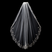 "Single Layer Fingertip Length (36"" long x 54"" wide) or Cathedral Length (108"" long) Veil 1568"