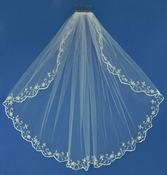 Bridal Wedding Veil Elbow Single Layer Veil 1086