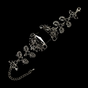 * Rhodium Black Bracelet B 80695