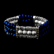 * Festive Royal Blue Aurora Borealis Crystal Bracelet 8503 **Discontinued**