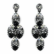 * Four Tone Smoked to Black Mix Earring Set 8541