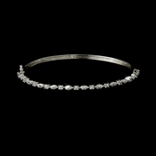 Beautiful Silver Clear Bangle Bracelet B 8166