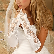 Designer Fingerless Bridal Glove GL 9128 V 10A