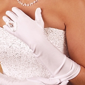 Ring Finger Elbow Length Bridal Glove GL 217-8E