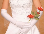Satin Above Elbow Bridal Gloves GLSA