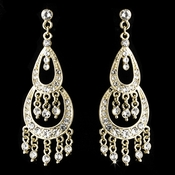 * Earring 804 Gold Clear