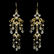 * Earring 7227 Gold Clear