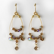 Earring 8153 Gold Light Brown