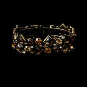 Gorgeous Gold Brown Bridal Bracelet B 903