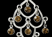 * Earring 20476 Silver Brown