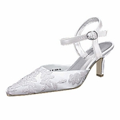 * Beautiful White Bridal Wedding Shoes 5015 ***6 Left***