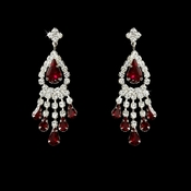 Silver Red Chandelier Earring  24792