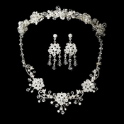 Swarovski Crystal Bridal Jewelry & Tiara Set (Silver or Gold)