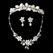 Bridal Necklace Earring & Tiara Set NE 8309 Comb 8243