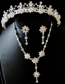 Elegant Austrian Crystal Bridal Jewelry Set NE 5698 & HP 5698