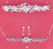 Matching Bridal Jewelry & Tiara Set NE 8003 & HP 8003
