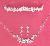 Matching Bridal Jewelry & Tiara Set 6439