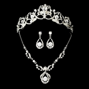 Swarovski Bridal Jewelry & Tiara Set NE 8265 & HP 8113