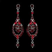 Red Vintage Dangle Earrings E 947