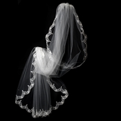 "Single Layer Waltz Length Scalloped lace edge Bridal Veil (72""l x 72""w) Veil 1610"