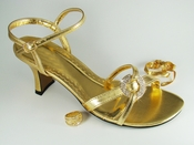 Angel Gold Evening Shoe