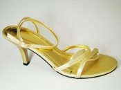 Enzo Gold Evening Shoes