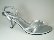 * Enzo Silver Evening Shoes