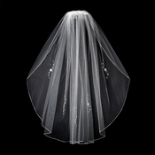 "Bridal Wedding Veil Single Layer Elbow (30"") Veil 3379"