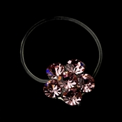 Silver-Pink Rhinestone Flower Toe Ring 2