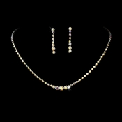 * AB Irridescent Accented Crystal Jewelry Set NE 337