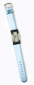 Silver-Light Blue Rhinestone Faced Watch WATCH9-LTBL
