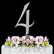 Completely Covered ~ Swarovski Crystal Wedding Cake Topper ~ Number 4