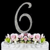 Completely Covered ~ Swarovski Crystal Wedding Cake Topper ~ Number 6